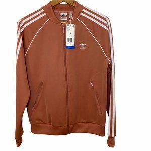 Adidas | NWT Salmon Logo Full Zip Track Jacket